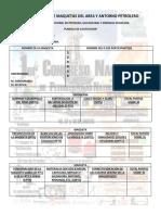 Planilla de Calificacion 1er Concurso de Maquetas Del Area y Antorno Petrolero