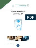 Psicometria 2019 Aula 07