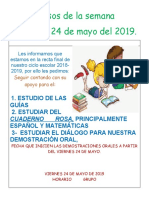 Avisos de La Semana Del 20 Al 24 de Mayo.