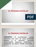 EL PROCESO CAUTELAR Concepto. Denominación. Finalidad. Características.