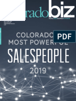 "ColoradoBiz Magazine's ""Colorado's Most Powerful Sales People 2019"""