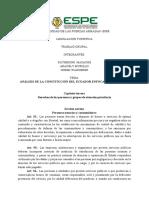 Análisis de La Constitución Del Ecuador Enfocado Al Turismo