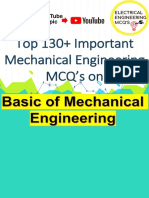 Basics of Mechanical Enginnering TOP 130+ MCQ