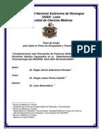 Complicaciones Ms Frecuentes de Fracturas Diafisiarias