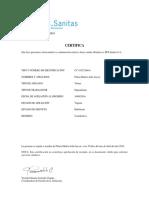 Certificado Afiliacion Tipo 1 156
