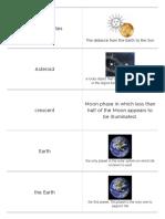 quizlet - solar system vocab