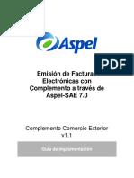 Pasos Para Generar CFDI33 Con Complemento Comercio Exterior SAE 7.0 Cantidad Aduana