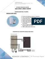 Intercom 1punto Modelo Bdp 202a