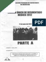 EXAMEN RESIDENTADO 2012 A Y B