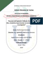 Resumen del Capítulo II del Método Científico del libro, Estadística Experimental, herramienta para la investigación.docx