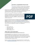 Características Generales y Propiedades Del Mercurio