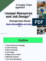 Week 10 SCA (Human Resources and Job Design)