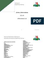 Airbus Abbreviations (Full)