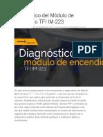 Diagnóstico Del Módulo de Encendido TFI IM