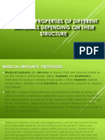 Uses and Properties of the Following Materials Depend