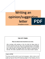 Writing a Letter Simplified Version