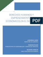 Modulo Derechos Humanos y Emprendimientos