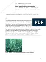 a bivariate logistic regression analysis of the predictive power of benthic topography on the presence of soft corals and algaes in the santa barbara channel