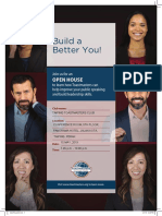 A4 Burgundy Toastmasters Open House Flier