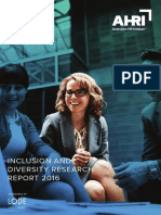 2016 Inclusion and Diversity Research Report Aus HR Institute