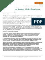Aulaaovivo Historia Democracia Xeque Janio Quadros Joao Goulart 12-08-2015