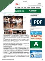 Clausura Del Taller Integral AOP 2019