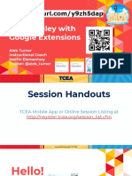google extensions tcea 2019  1