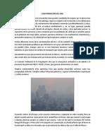 Contaminación Del Aire y Agua