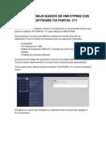 Guia de Manejo Basico de Hmi Ktp600 Con El Software Tia Portal v11