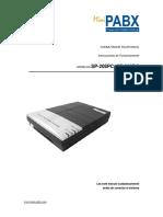 Manual Mini-PABX SP308