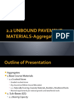 2.2 Unbound Pavement Materials Aggregates