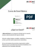 Curso de Excel Basico Sesion 1