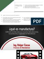 Clase 01 - Qué Es Manúfactura