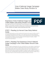 [Simple] Experience China A National Image Campaign in the United States Case Study Solution.docx