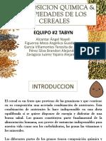 COMPOSICION QUIMICA & PROPIEDADES DE LOS  CEREALES