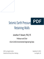 Seismic Earth Pressures on Retaining Walls