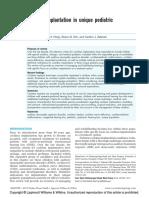 Implantación Coclear en Poblaciones Pediátricas Únicas.