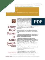 Thirty Days' Prayer to St. Joseph