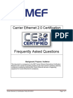 Carrier Ethernet 2.0 Certification - FAQs 2012-05-01