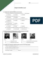 UNIT 02 TV Activity Worksheets
