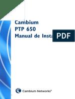 Manual de Instalación Serie PTP 650 de Cambium