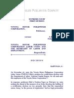 Toyota Motor Philippines Corporation vs. Toyota Motor Philippines Corporation Labor Union, G. R. No. 121084, February 19, 1997, 268 SCRA 573
