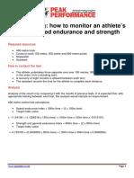 Brian Mackenzie. - 400m Testing