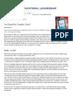 Bauerlein (2011). Too Dumb for Complex Texts.pdf