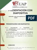 presentación con diapositiva