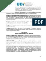 Reglamento Estudiantil UDI 2010 - Calificaciones y Registros