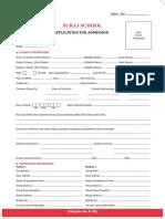 Admission Form Suraj School56gurugram