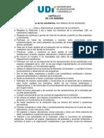 Reglamento Estudiantil UDI 2010 - Deberes de Los Estudiantes