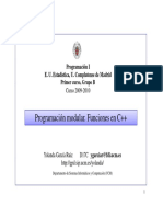 Programacion Modular. Funciones en C Con