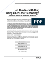 Article- High Speed Thin Metal Cutting Using Fiber Laser Technology